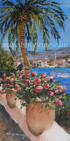 Görög nyár - tájkép festmény