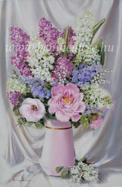 Szépség vázában - csendélet festmények