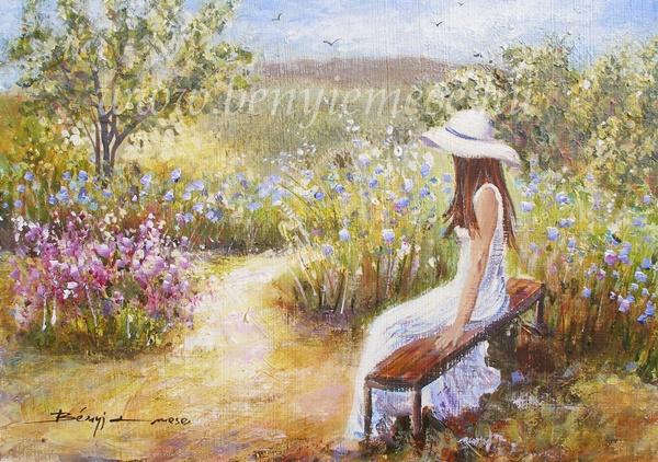 Újra itt nyár - Figurális festmény