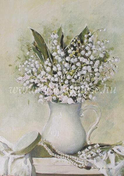 Gyöngyvirág illat - csendélet festmény