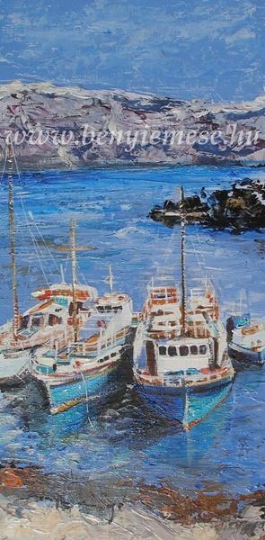 Görögország vizein - tájkép festmény