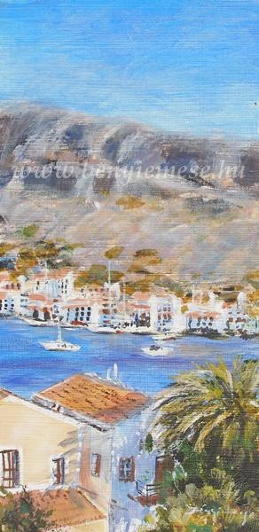 Mediterrán fények - Tájkép festmény