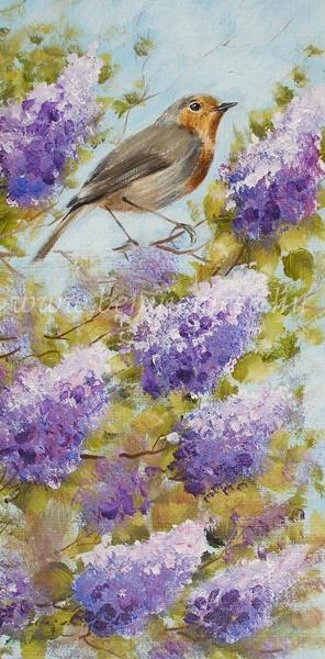 Orgona ágán - Csendélet festmény