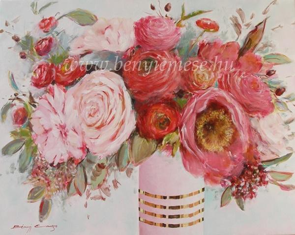 Virágpompa - csendélet festmény