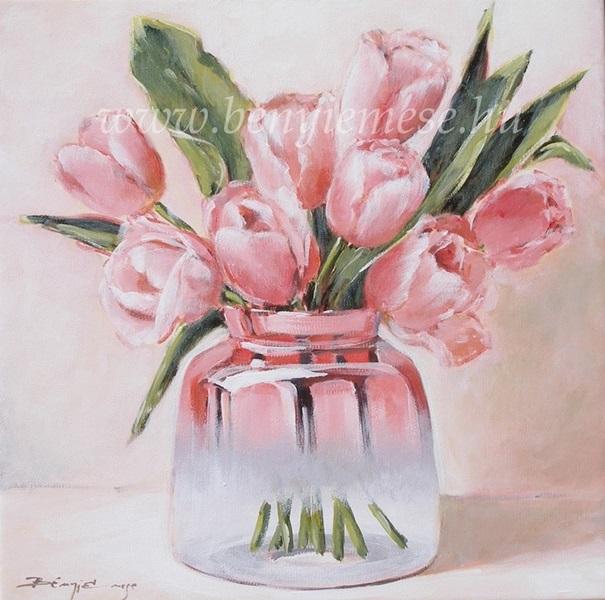 Tulipánok - Csendélet festmény