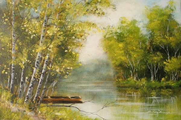 Vízparti csend - Tájkép festmények
